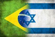 Bandeiras do Brasil e de Israel juntas. (Imagem: Getty)